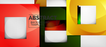 Square background, abstract squares on grey, business or techno template. Vector illustration Ilustracja