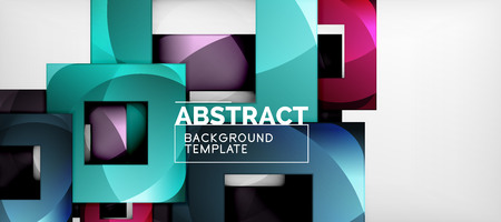 Abstract squares geometric background can be used in cover design, book design, website background. Vector illustration Ilustracja
