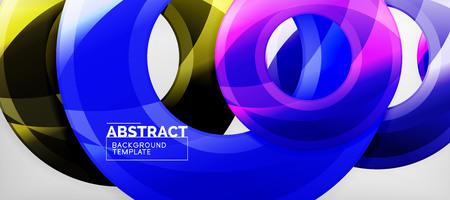Glossy circles geometric background