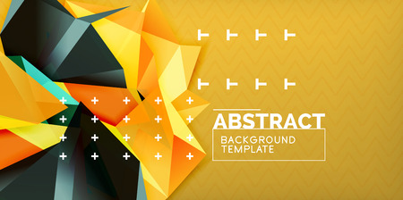 Triangular low poly background design, vector poster