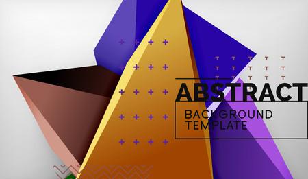 3d triangle geometric background design, modern poster template. Vector illustration 向量圖像