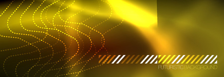 Neon glowing techno lines, hi-tech futuristic abstract background template with square shapes 일러스트