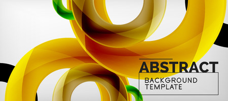 Vector rings abstract background, modern illustration template