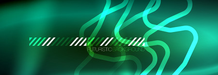 Shiny neon lights background, techno design, modern wallpaper for your project, vector illustration