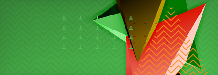 3d triangular vector minimal abstract background design, abstract poster geometric design Vectores
