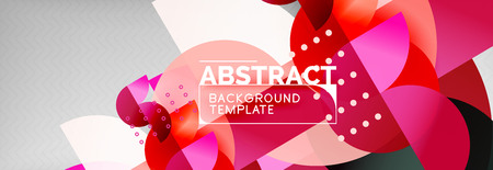 Circle composition abstract background, vector geometric modern design Ilustração