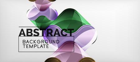 Shiny glossy arrows background, clean modern geometric design, futuristic composition Ilustração