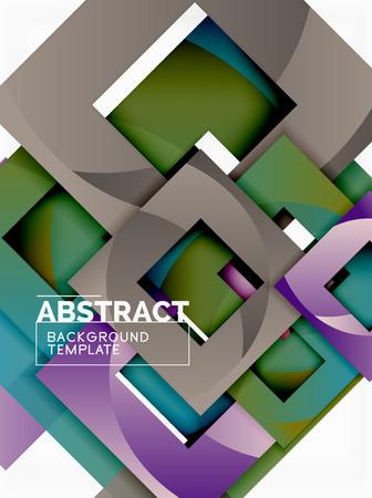 Background abstract squares, geometric minimal template, vector illustration Векторная Иллюстрация