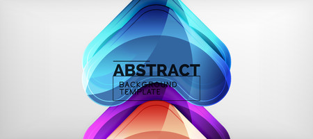 Techno lines, hi-tech futuristic abstract background template with arrow shapes Illustration