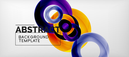 Vector circles abstract background, vector illustration