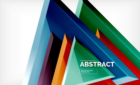 Flying triangles compostion geometric background. Vector illustration Vettoriali