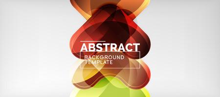 Light effects glossy arrows background, vector illustration Stock Illustratie