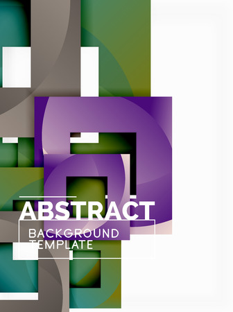 Background abstract squares, geometric minimal template