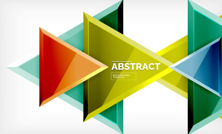 Flying triangles composition  geometric background Vettoriali