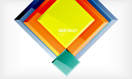 Geometric abstract background, modern square design. Vector Stock fotó - 119406099