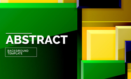 Geometric abstract background, modern square design. Vector  イラスト・ベクター素材