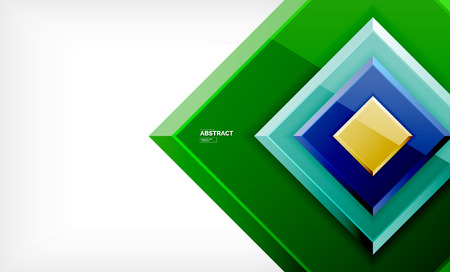 Geometric abstract background, modern square design