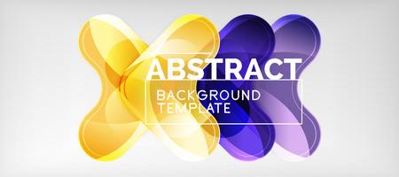 Light effects glossy arrows background, vector illustration Ilustração