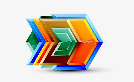 Techno arrow background, template design. Vector