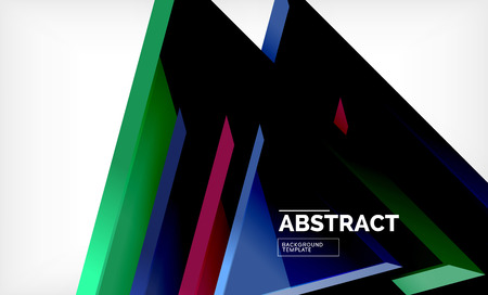 Tech futuristic geometric 3d shapes, minimal abstract background. Vector illustration Banco de Imagens - 119793153