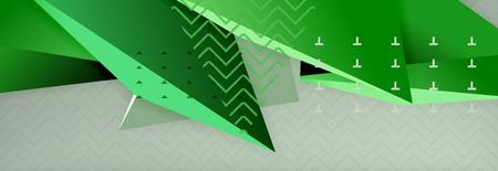 3d triangular vector minimal abstract background design Çizim