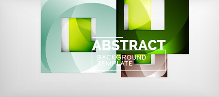 Background with color squares composition, modern geometric abstraction design for poster, cover, branding or banner. Vector Vektoros illusztráció