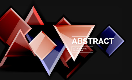 Shiny style geometric background Banque d'images - 119873908