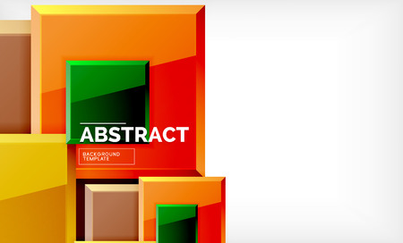 Geometric abstract background, modern square design. Vector 일러스트