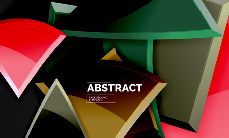 Glossy squares and triangles geometric backgrounds. Vector Banque d'images - 119923619
