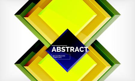 Geometric abstract background, modern square design. Vector Illusztráció