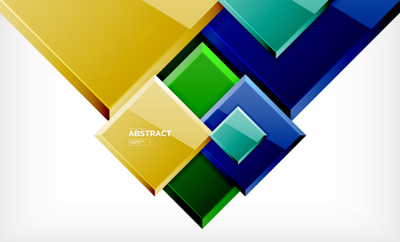 Geometric abstract background, modern square design Stock fotó - 119948488
