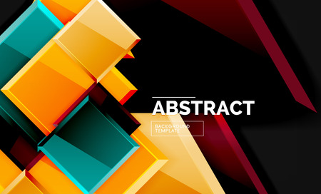 Shiny style geometric background Banque d'images - 120019843