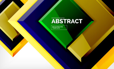 Geometric abstract background, modern square design. Vector