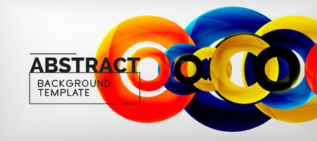 Vector rings abstract background, modern illustration template Vecteurs