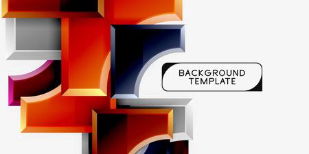 Geometrical 3d shapes background. Vector illustration Vektoros illusztráció