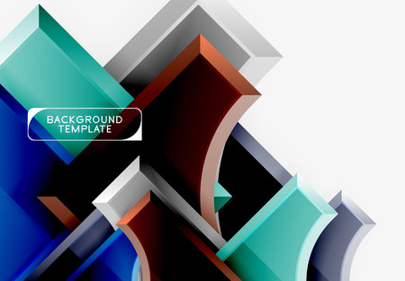 Geometrical 3d shapes background. Vector illustration