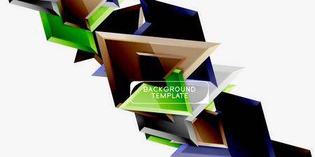 Geometric minimal design background. Vector modern poster Çizim