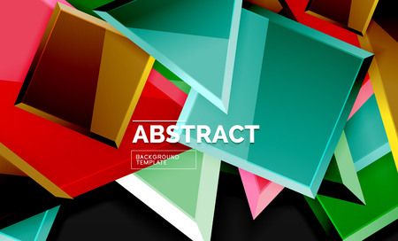 Squares and triangles geometrical background. Vector template