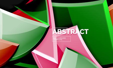 Shiny style geometric background, vector