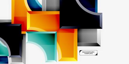 Modern geometrical abstract background. Vector minimal design Ilustração