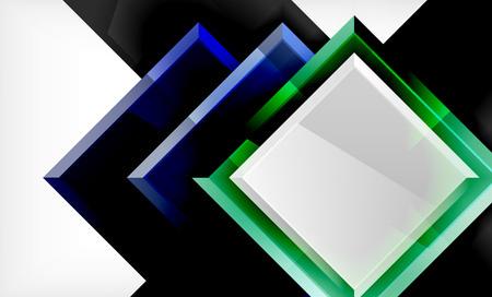 Bright colorful square shape blocks geometrical background, vector modern template Фото со стока - 122812567