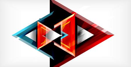 Triangle abstract background Illusztráció