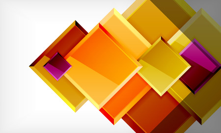 Colorful square and rectangle blocks background, vector geometric abstract design Banque d'images - 122770711