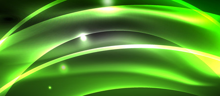 Neon light abstract waves  イラスト・ベクター素材