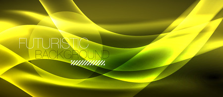 Neon light abstract waves 写真素材 - 122772052