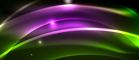 Neon light abstract waves Banque d'images - 122772062
