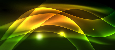 Neon light abstract waves backgrounnd