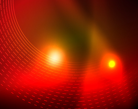 Shiny circles glowing abstract background. Vector illustration Illustration