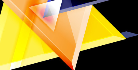 Triangle abstract vector background concept Stock Illustratie
