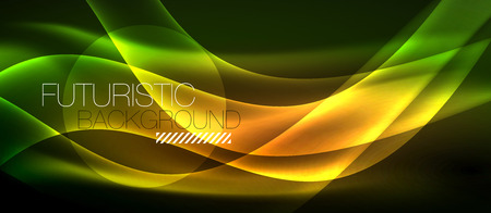 Neon light abstract waves template Banque d'images - 122717961